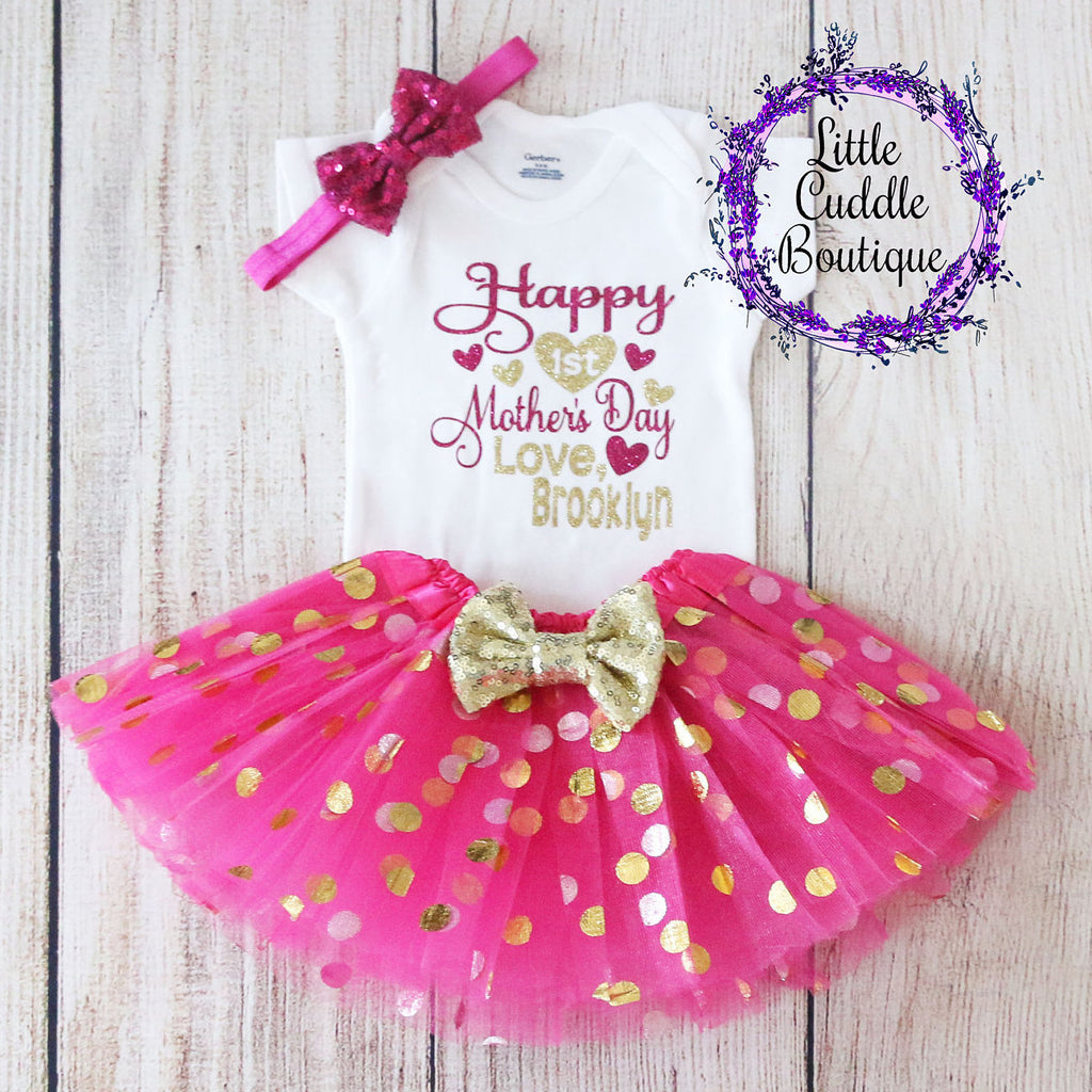 Personalized First Mother's Day Tutu Outfit