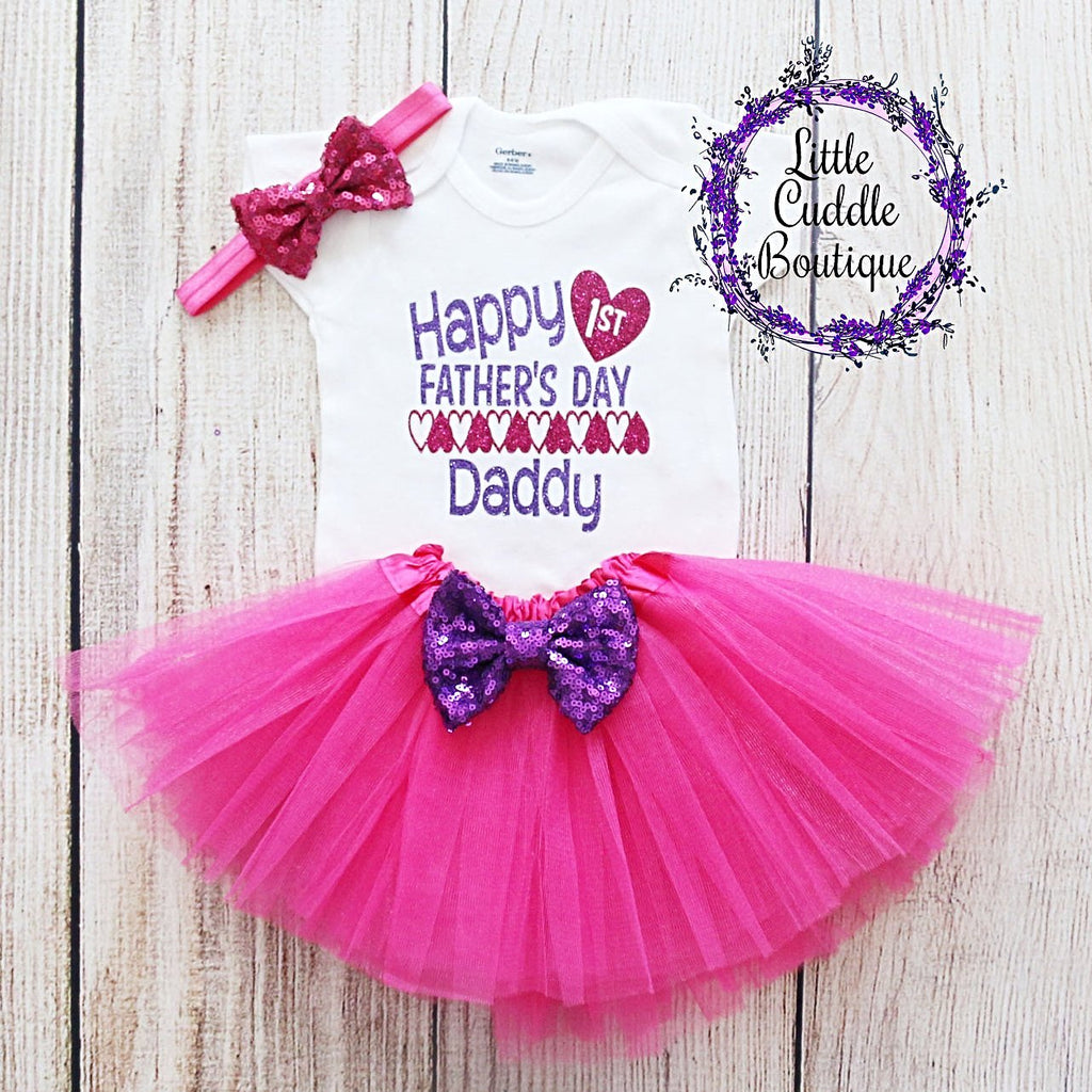 First Father's Day Tutu Outfit