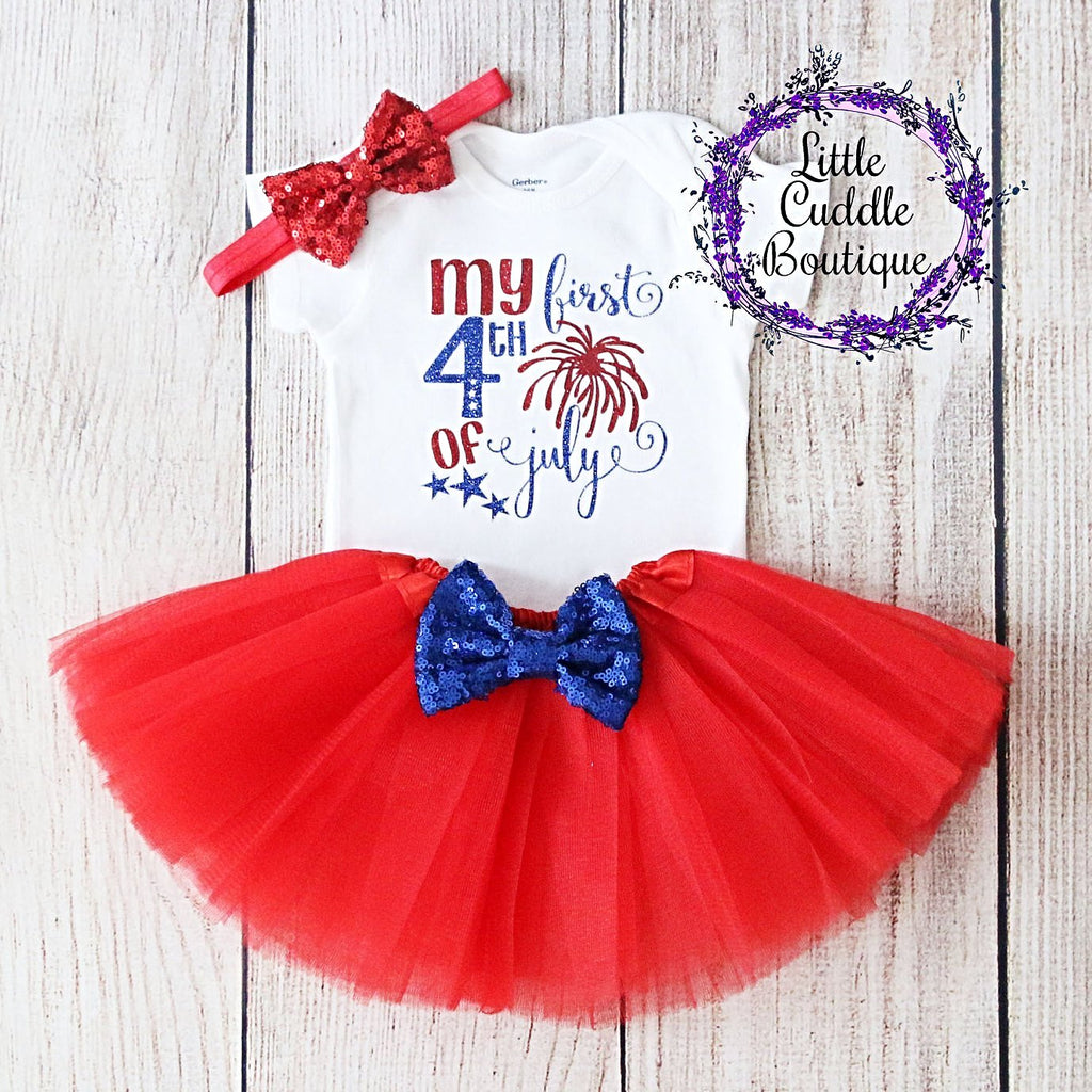 First Fourth of July Tutu Outfit