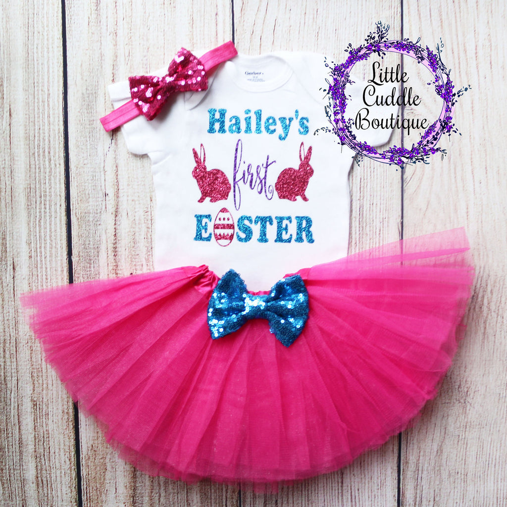 Personalized First Easter Tutu Outfit