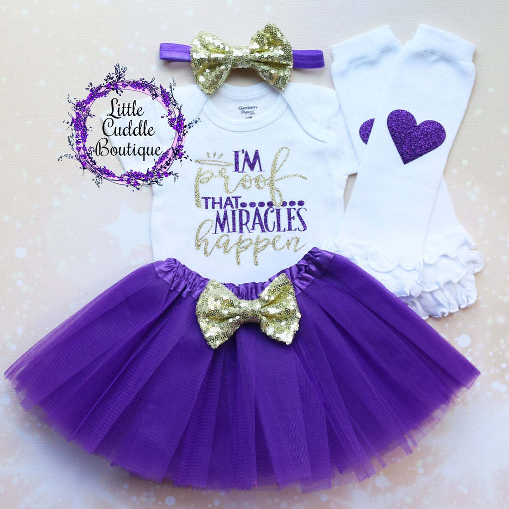I'm Proof That Miracles Happen Baby Tutu Outfit