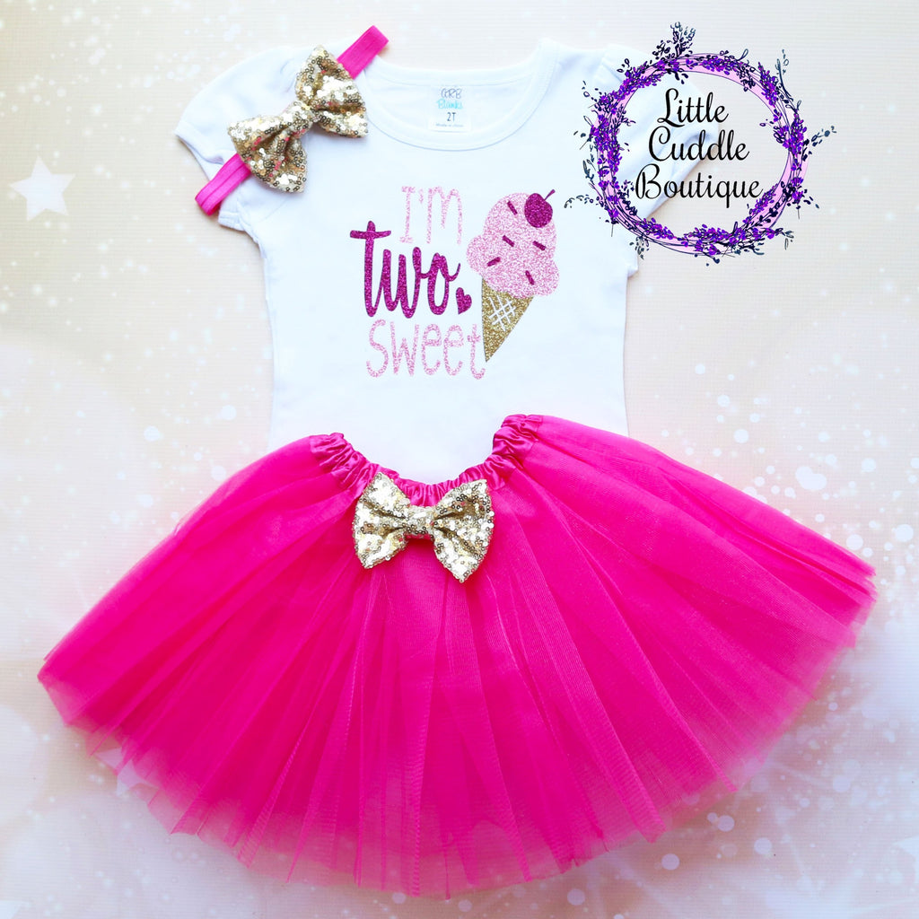 I'm Two Sweet Second Birthday Tutu Outfit