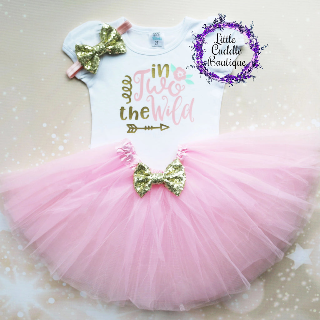 In Two The Wild Birthday Tutu Outfit