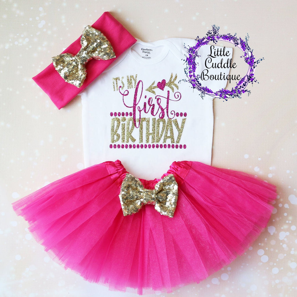 It's My First Birthday Baby Tutu Outfit