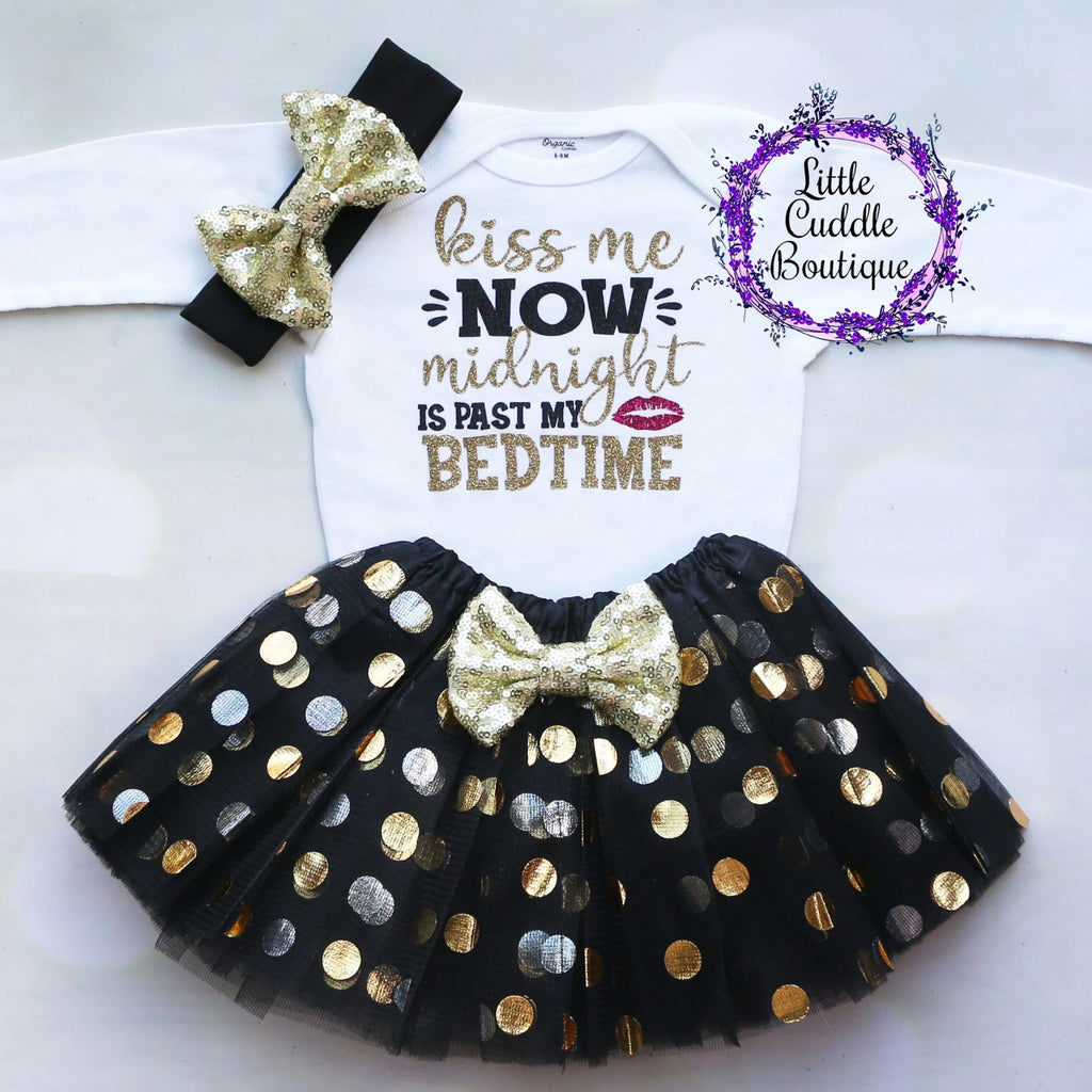 Kiss Me Now Midnight Is Past My Bedtime Tutu Outfit