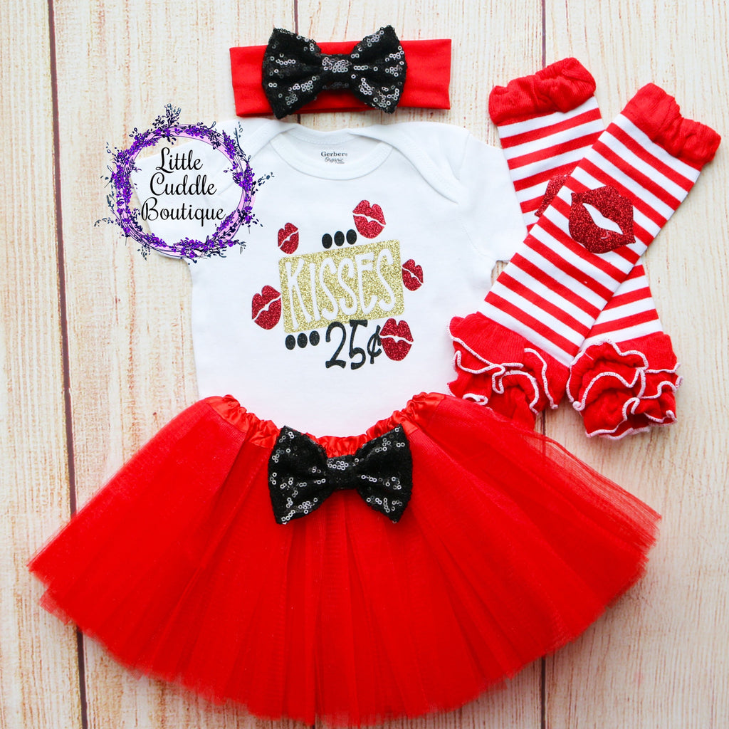 Kisses 25 Cents Baby Tutu Outfit