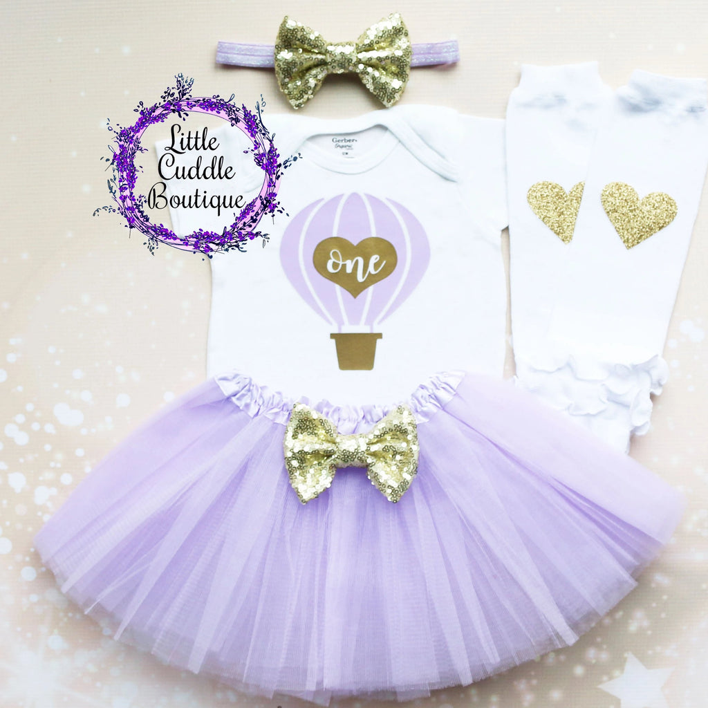 Hot Air Balloon First Birthday Tutu Outfit
