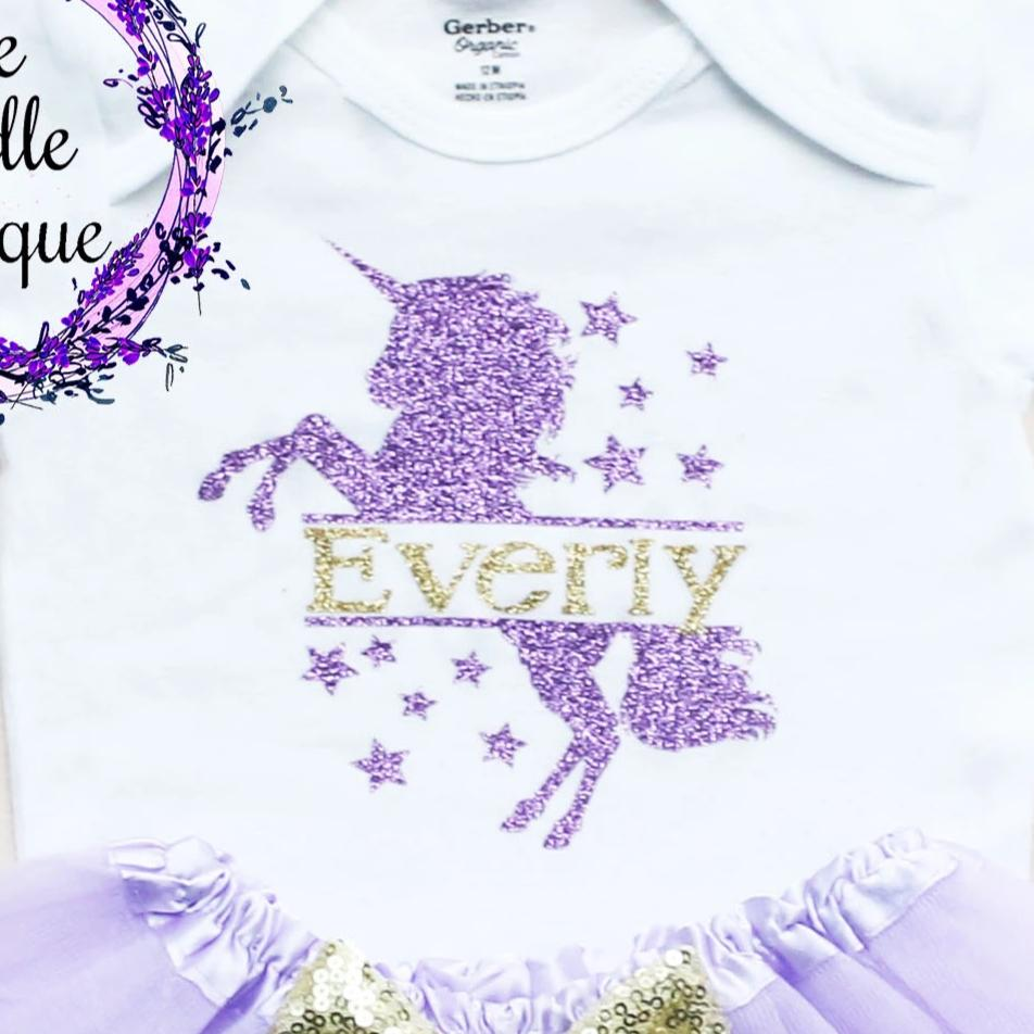 Personalized Unicorn Baby Tutu Outfit