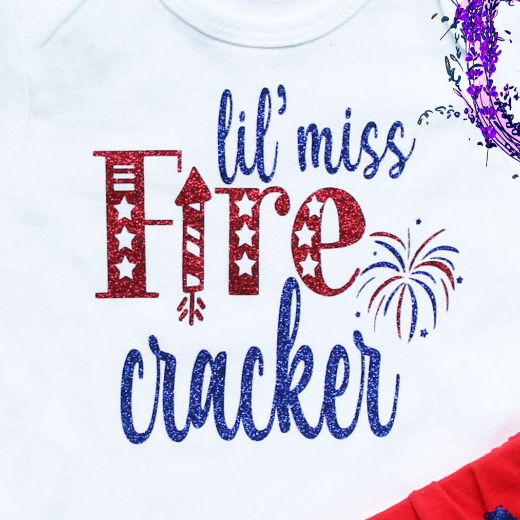 Little Miss Firecracker Fourth of July Outfit