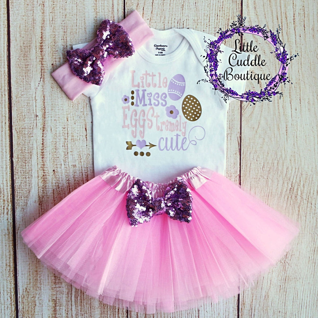 Little Miss Eggstremely Cute Tutu Outfit