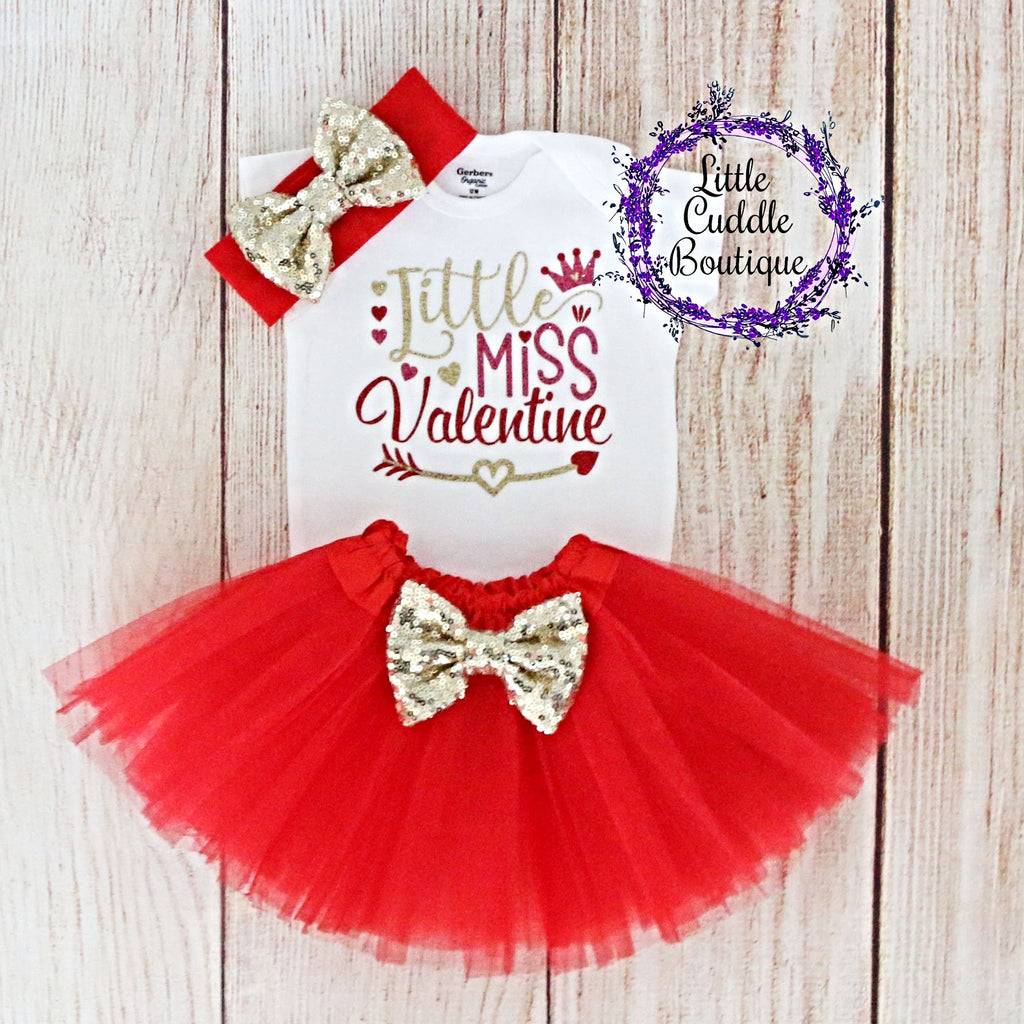 Little Miss Valentine Tutu Outfit
