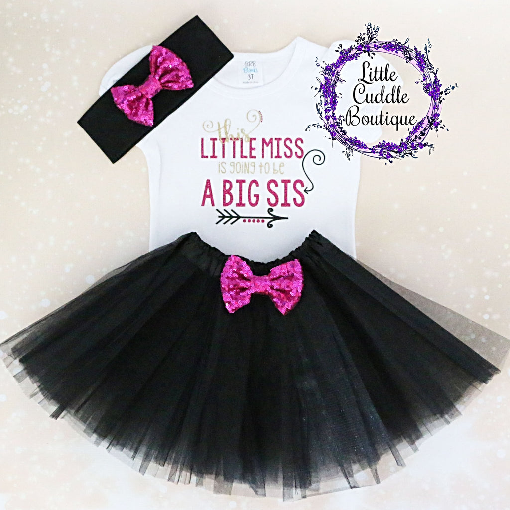 This Little Miss Is Going To Be A Big Sis Tutu Outfit