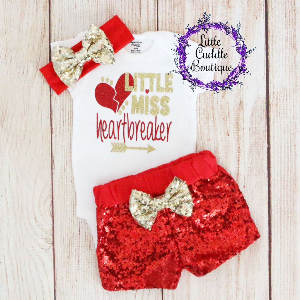 Little Miss Heartbreaker Shorts Outfit