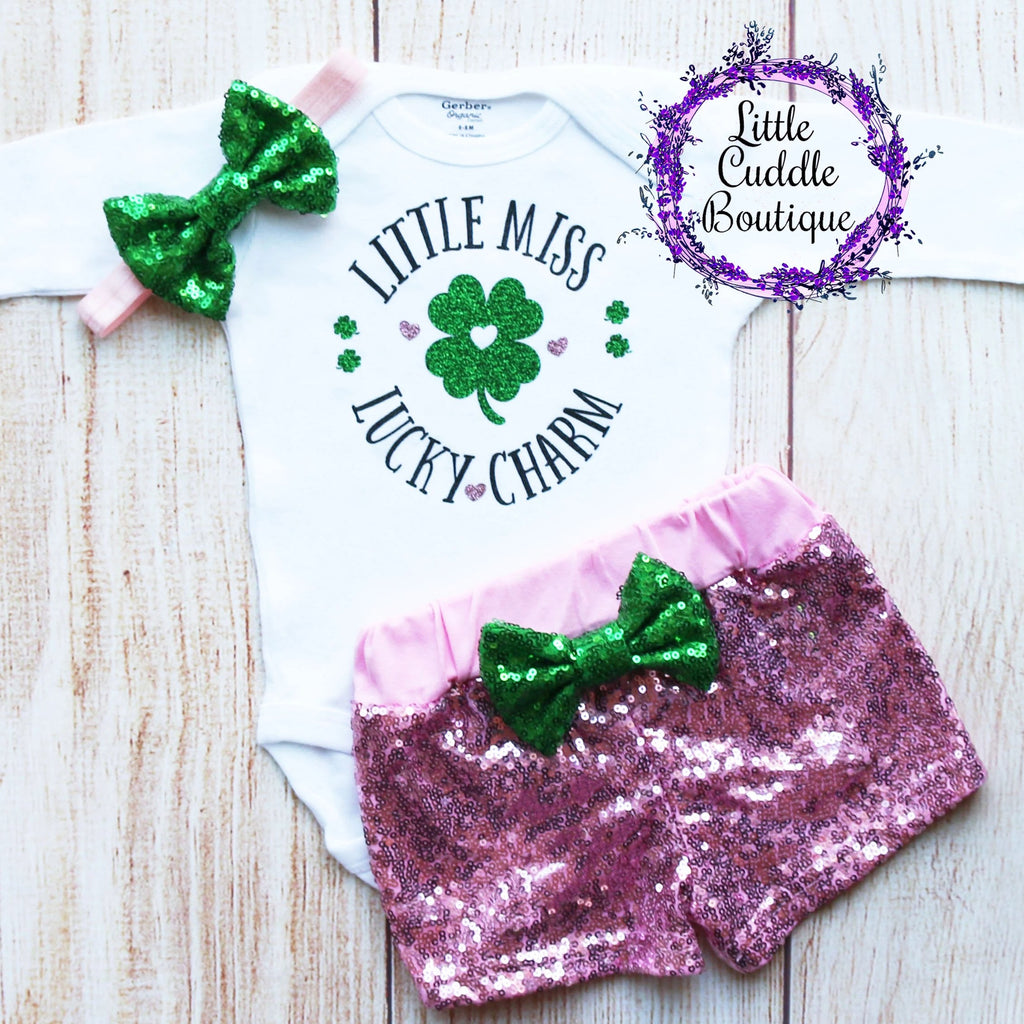 Little Miss Lucky Charm Shorts Outfit
