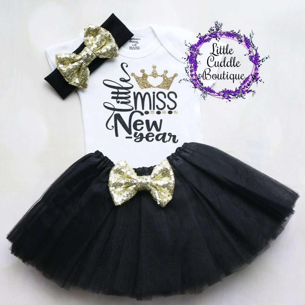Little Miss New Year Baby Tutu Outfit