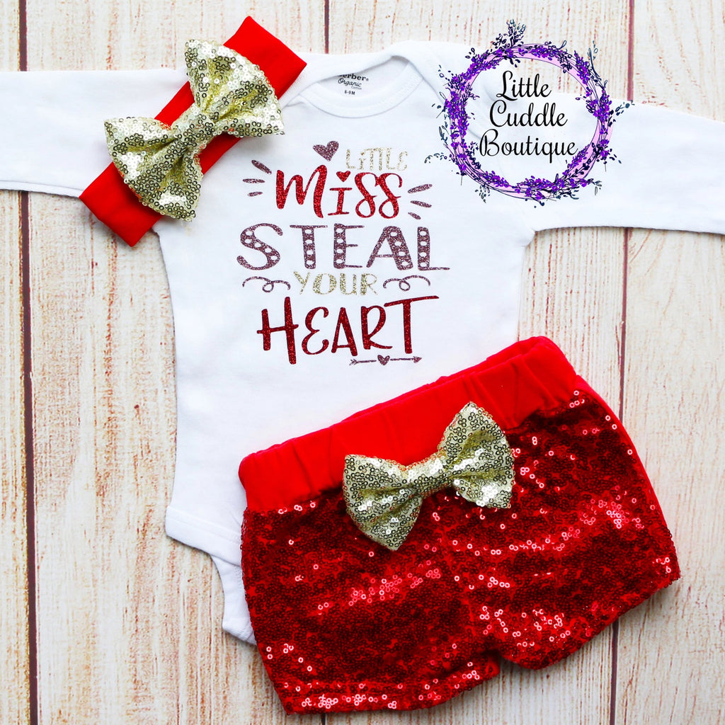 Little Miss Steal Your Heart Shorts Outfit