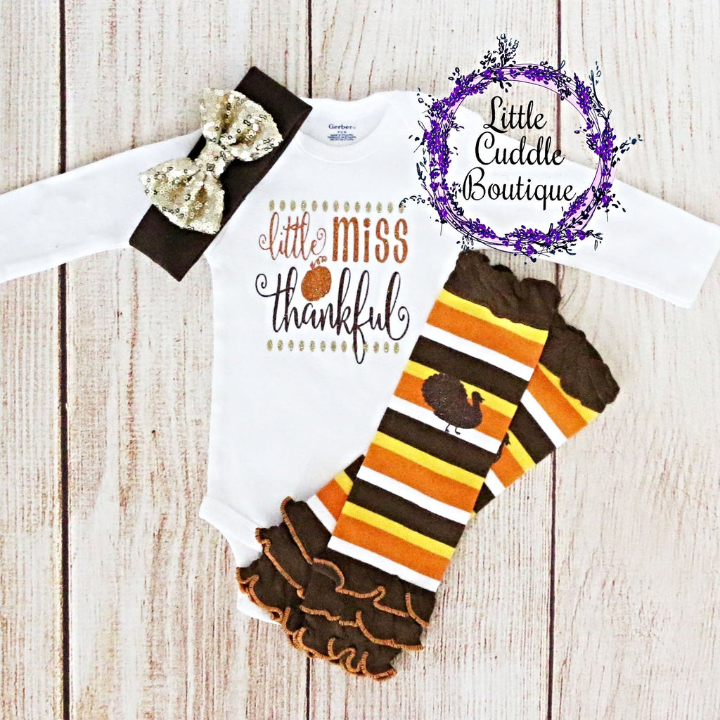 Little Miss Thankful Baby Girl Outfit