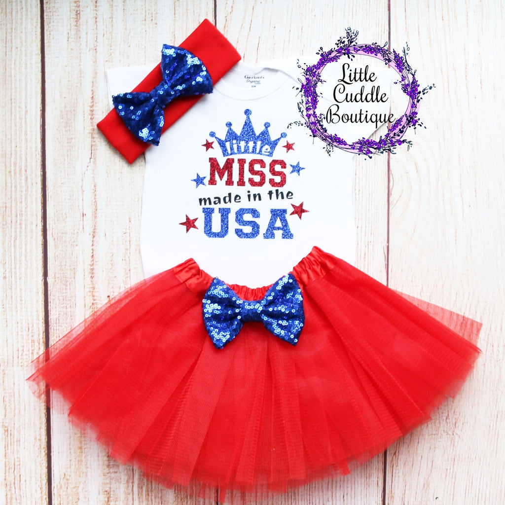 Little Miss Made In The Usa Tutu Outfit