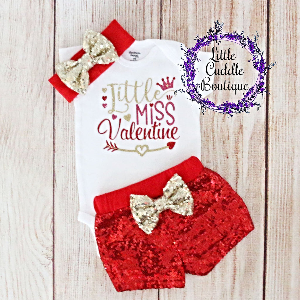 Little Miss Valentine Shorts Outfit