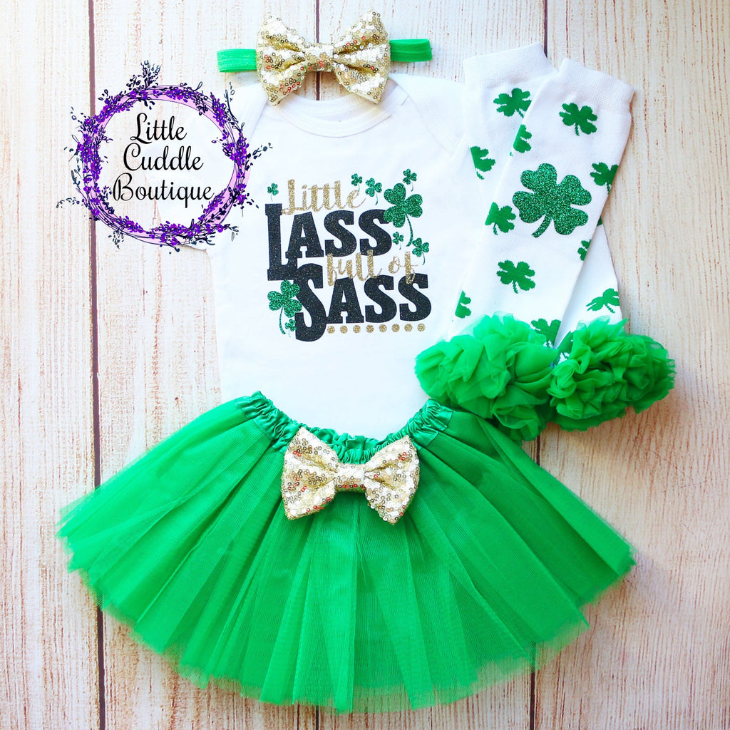 Little Lass Full Of Sass St. Patrick's Day Tutu Outfit