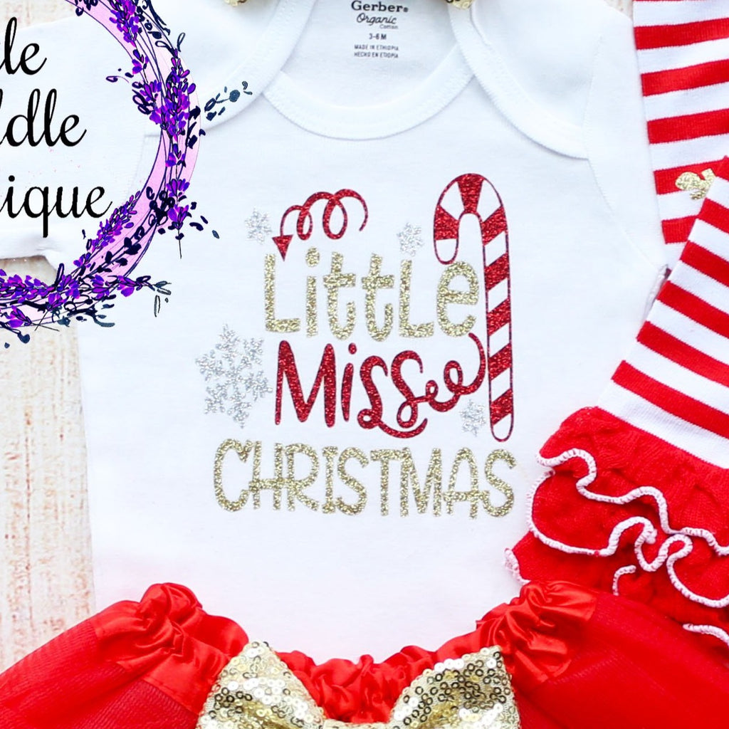 Little Miss Christmas Baby Tutu Outfit
