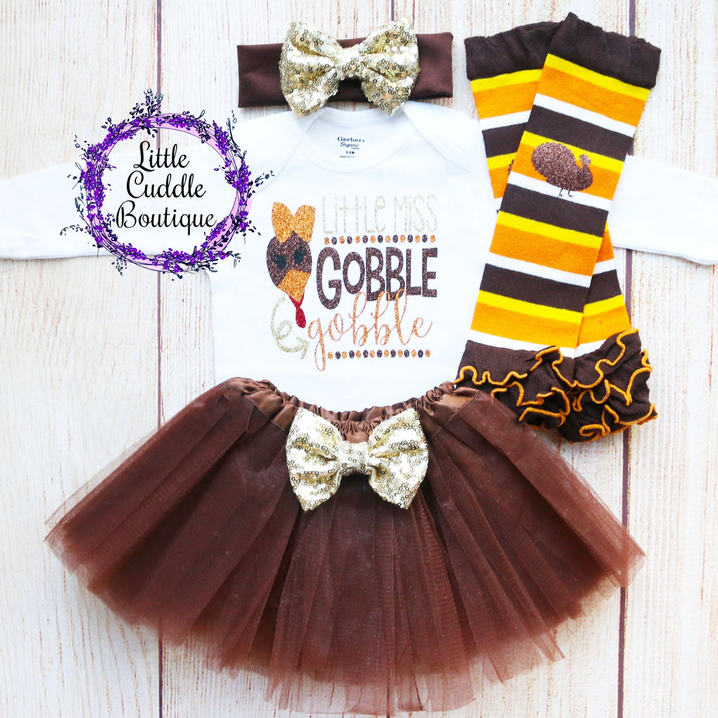 Little Miss Gobble Gobble Baby Tutu Outfit