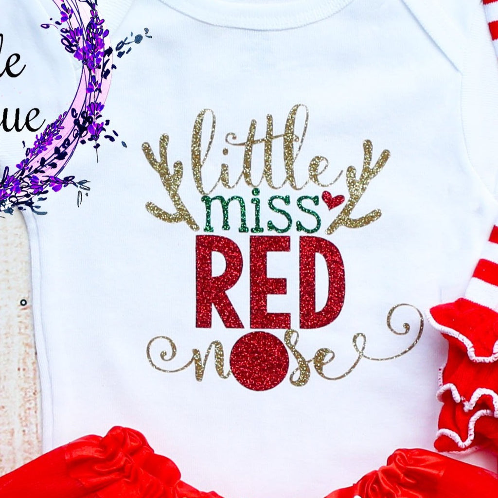 Little Miss Red Nose Baby Tutu Outfit