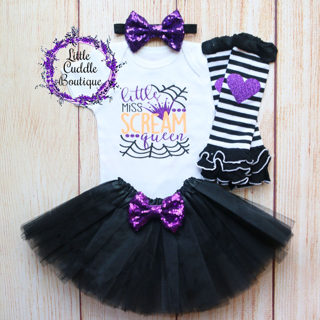 Little Miss Scream Queen Baby Outfit