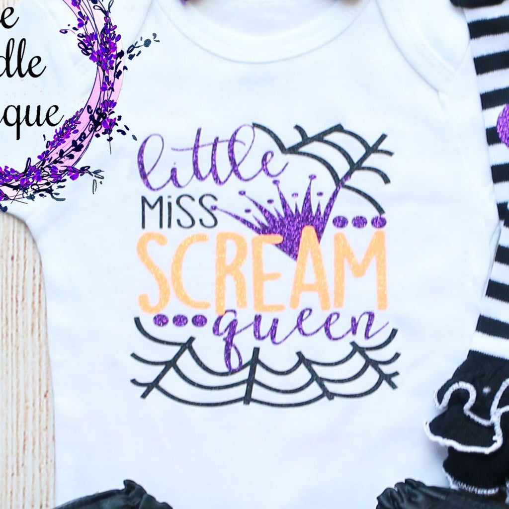 Little Miss Scream Queen Baby Tutu Outfit