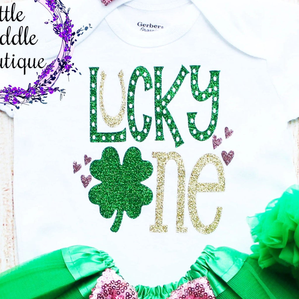 Lucky One St. Patrick's Day Birthday Tutu Outfit