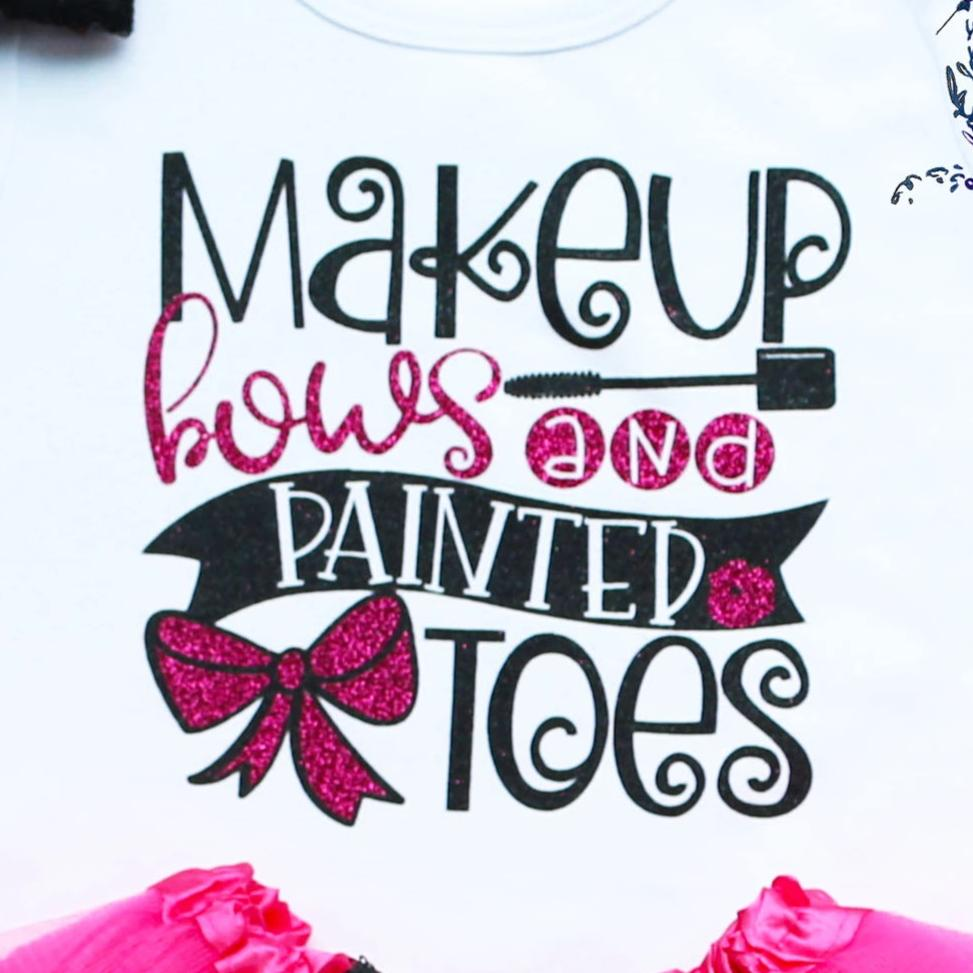 Makeup Bows And Painted Toes Girl Tutu Outfit