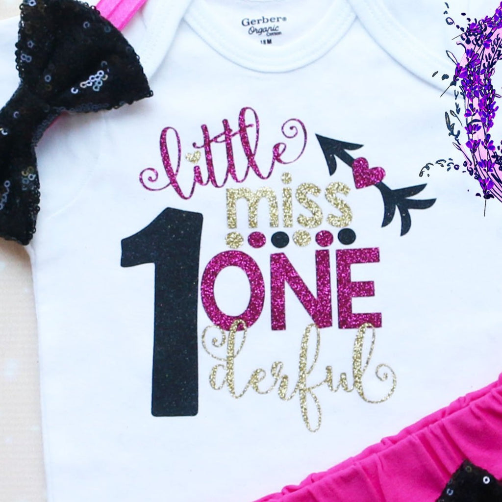 Little Miss Onederful Baby Shorts Outfit