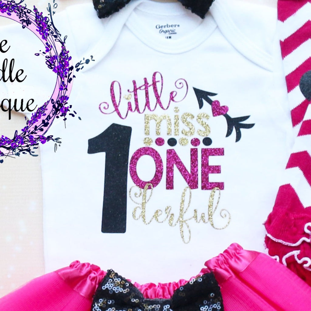 Little Miss Onederful Baby Tutu Outfit