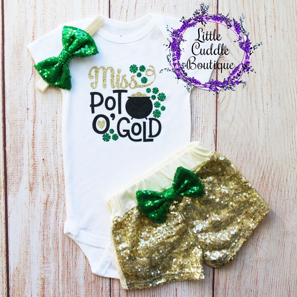Miss Pot O Gold Baby Shorts Outfit