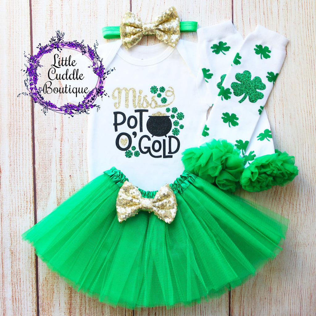 Miss Pot O Gold Baby Tutu Outfit