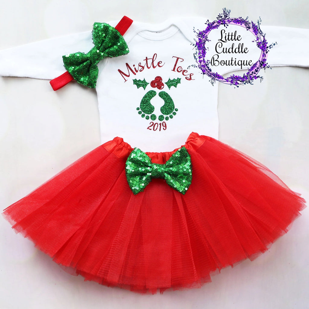 Mistle Toes Christmas Baby Tutu Outfit