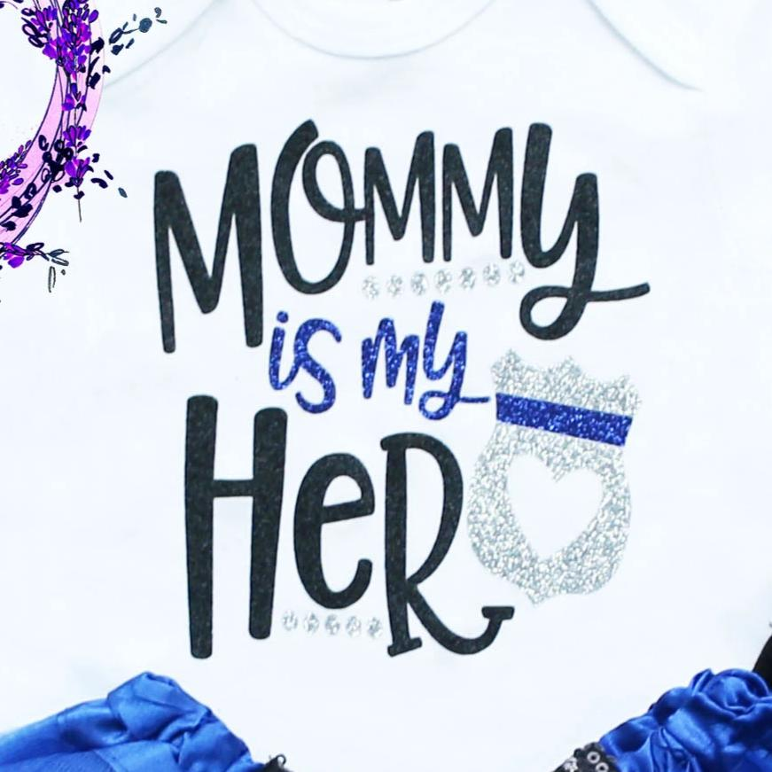 Mommy Is My Hero Police Tutu Outfit