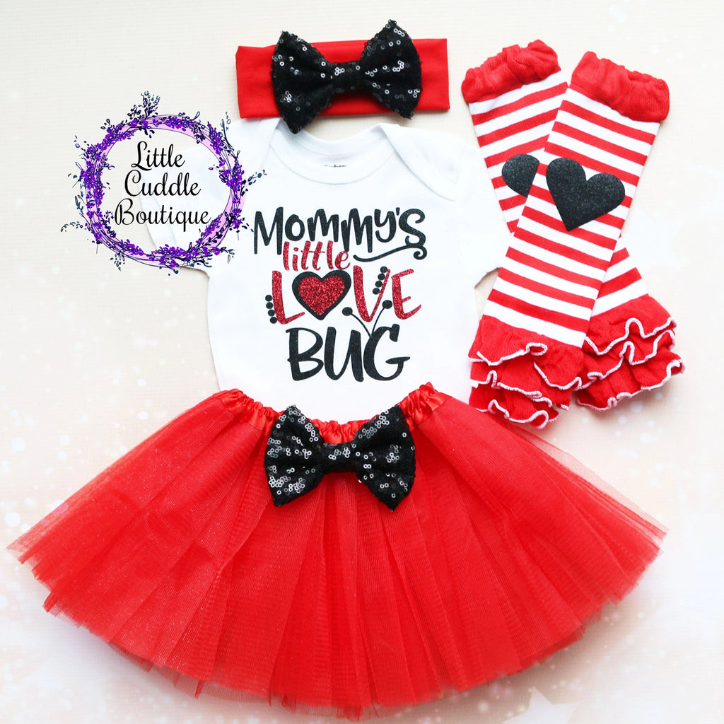 Mommy's Little Love Bug Baby Tutu Outfit