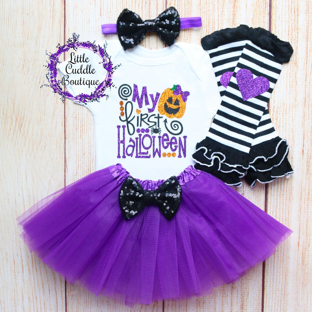 My First Halloween Baby Tutu Outfit
