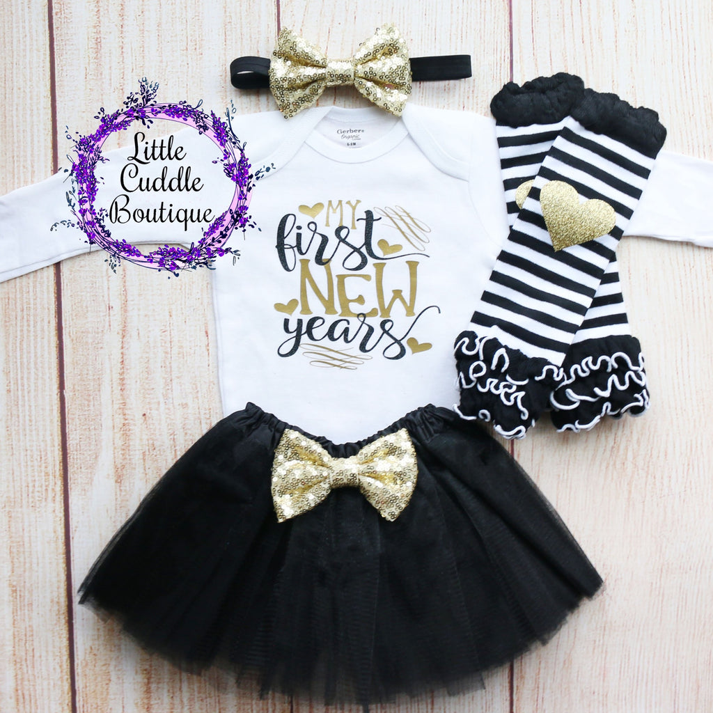 My First New Years Baby Tutu Outfit