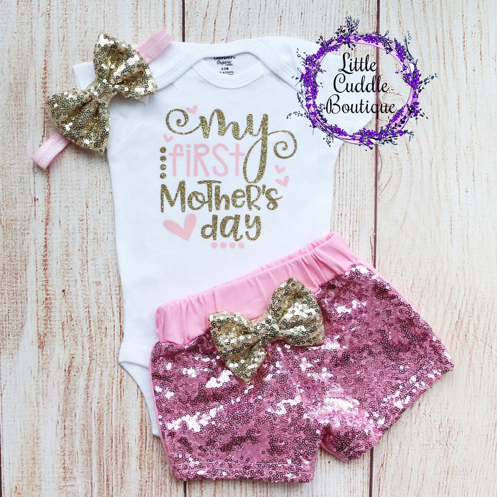 My First Mother's Day Shorts Outfit