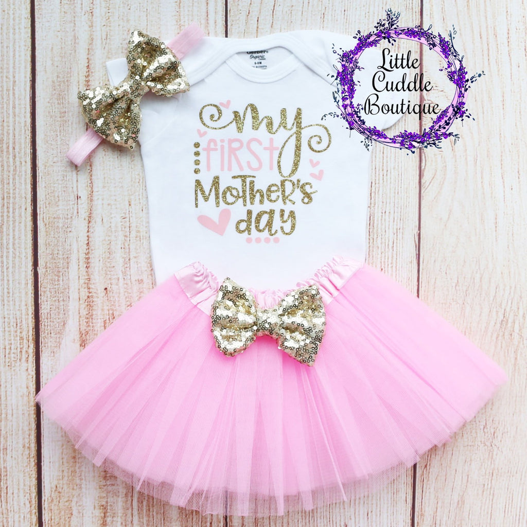 My First Mother's Day Tutu Outfit