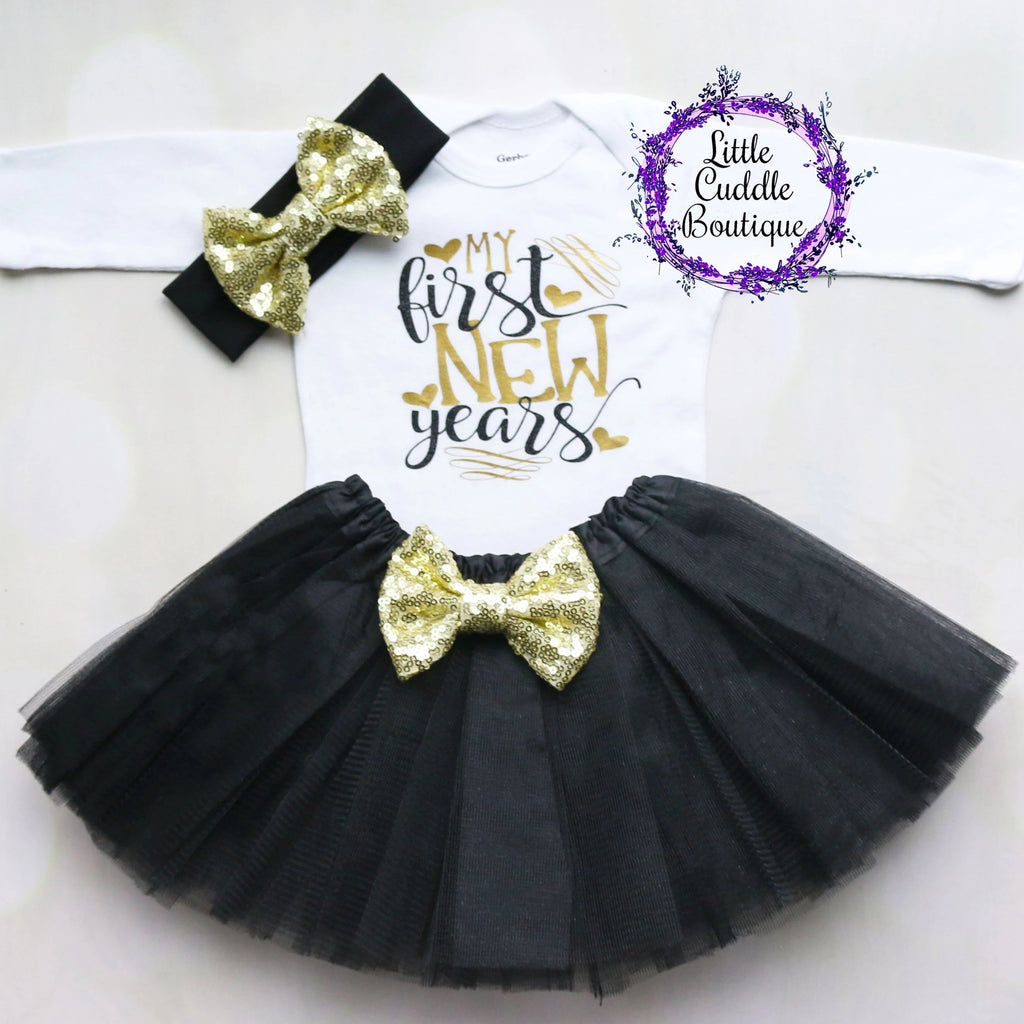 My First New Year's Tutu Outfit