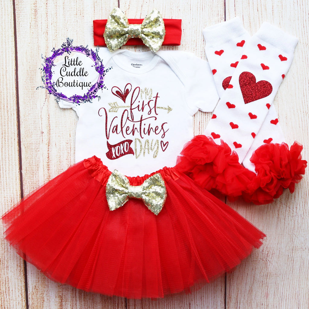 My First Valentines Day Tutu Outfit