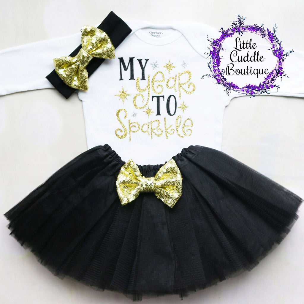 My Year To Sparkle Baby Tutu Outfit