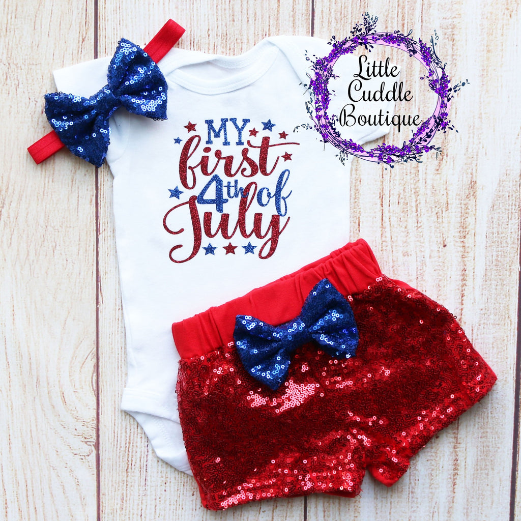 My 1st Fourth of July Shorts Outfit