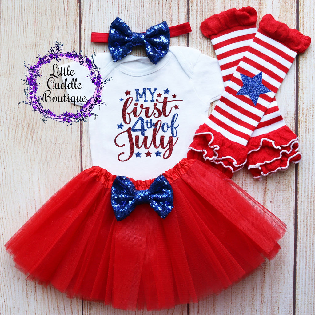 My 1st Fourth of July Baby Tutu Outfit