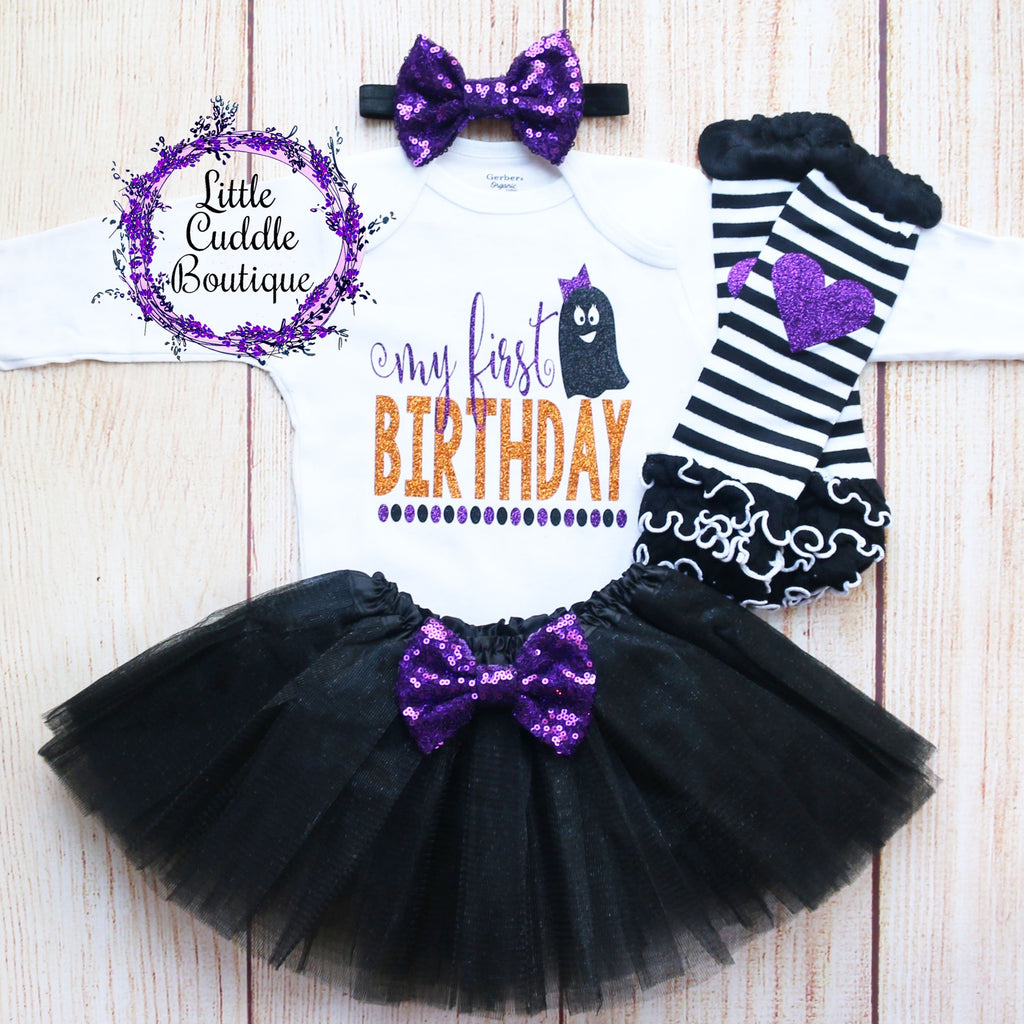 My First Halloween Birthday Tutu Outfit