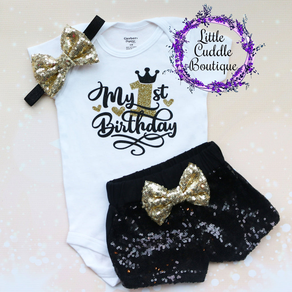 My 1st Birthday Baby Shorts Outfit