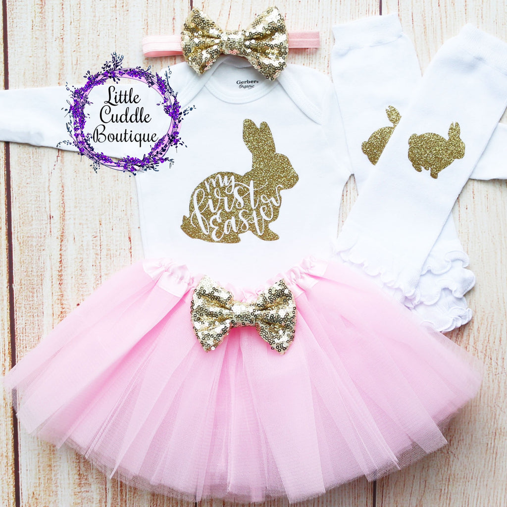 First Easter Baby Tutu Outfit